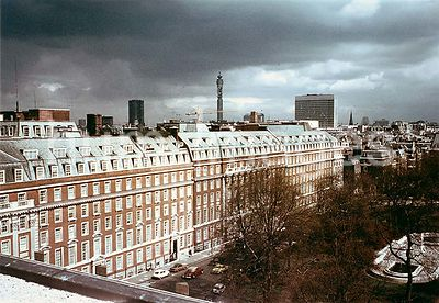 ca. 1973 - View of U.S. embassy and chancery complex in London, England (Grosvnenor Square)