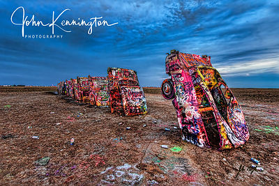 Cadillac Ranch Storm, Route 66, Amarillo, Texas