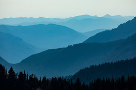 Blue Ridges Viewed from Mount Rainier