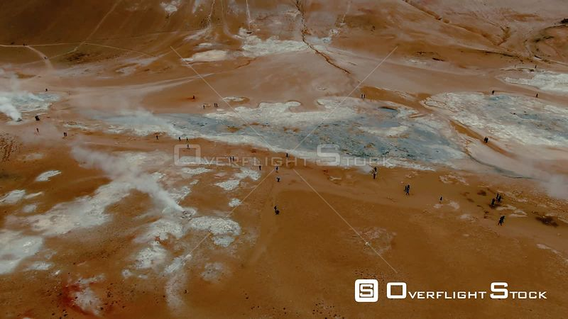 Mud Pits and Fumaroles in Hverir, Iceland