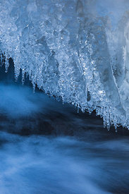 Ice Formations at Seljalandsfoss Waterfall in Iceland