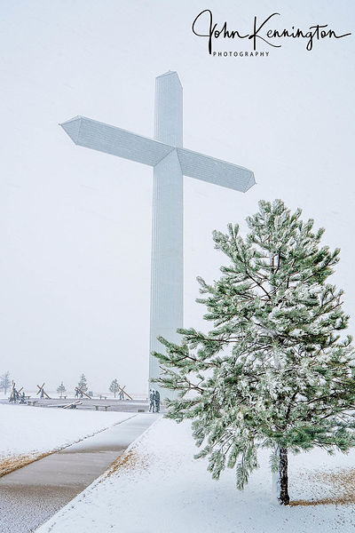 Blizzard at The Cross Of Our Lord No. 2, Groom, Texas
