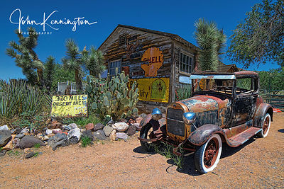 300 Mile Desert Ahead, Route 66, Hackberry General Store, Arizona
