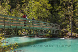 Bridge over Robson River in Mount Robson Provincial Park