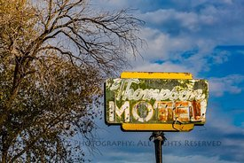 Sign for Abandoned Motel in Thompson Springs, Utah