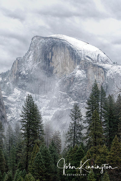 Half Dome and Fog, Yosemite National Park. California
