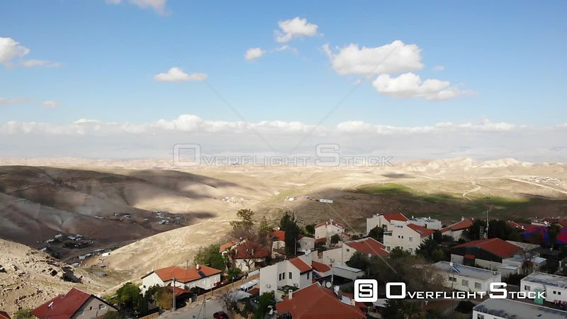 Jewish Settlement Close to Bedouin Structures in Israel City of Maale Adumim