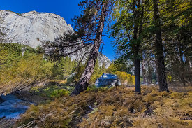 View along Zumwalt Meadow Trail in Kings Canyon National Park