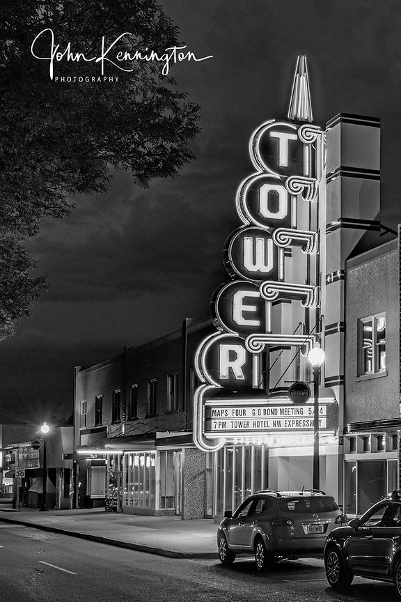 Tower Theatre, Route 66 (BW), Oklahoma City