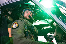 Flying officer Cameron Day in a SH-2G(I) Seasprite ..Operation Harve 2020. HMNZS Canterbury with Department of Conservation, ...