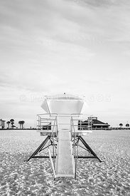 Pensacola Beach Florida Lifeguard Tower 2 Retro Photo