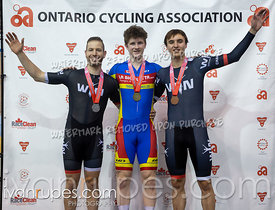 Men Time Trial Podium. 2020 Ontario Track Championships, March 7, 2020
