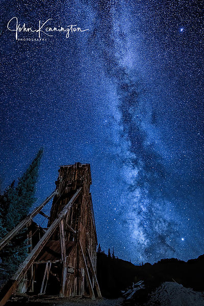 Milky Way Over Yankee Girl Mine, Ouray, Colorado