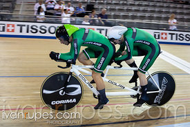 Men Tandem Pursuit Qualifying. 2020 UCI Para-Cycling Track World Championships, Day 2 Morning Session, January 31, 2020