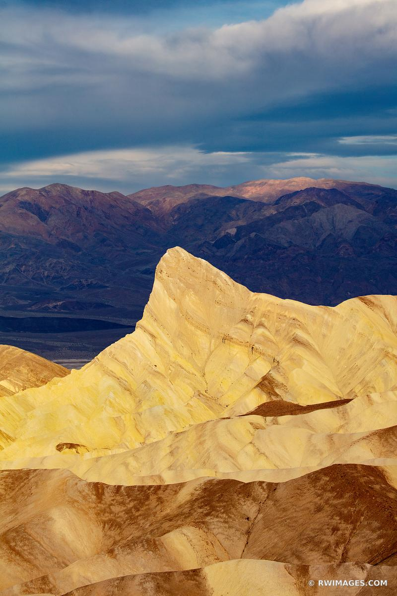 MANLY BEACON ZABRISKIE POINT SUNRISE DEATH VALLEY CALIFORNIA COLOR VERTICAL