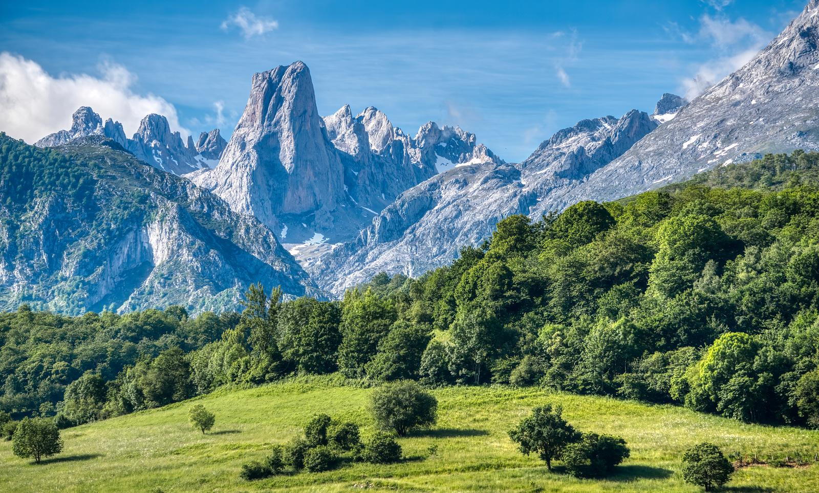 Naranjo de Bulnes peak in the Picos de Europa mountains, Spain