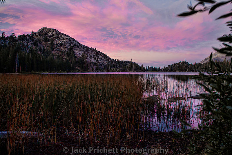 Fremont Lake, high Sierra Nevada, at sunset