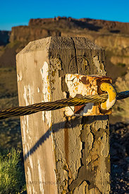 Guardrail along Historic U.S. Route 10 in Frenchman Coulee, Washington