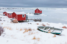 WINTER ON FOGO ISLAND, NEWFOUNDLAND
