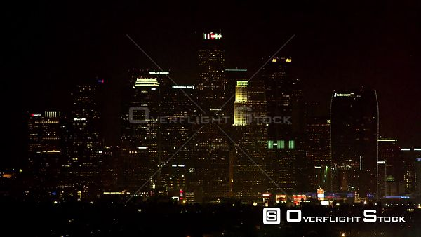 Night Backing Plate DTLA Downtown Los Angeles Highrises California