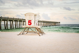 Pensacola Beach Gulf Pier and Lifeguard Stand 5 Photo