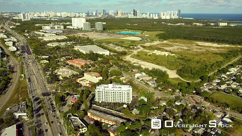 Aerial Shot of North Miami Land Development Sites for Real Estate Florida
