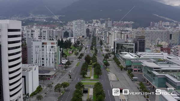 Drone Video of Lockdown of Quito Naciones a Shyris Ecuador during COVID-19 Coronavirus Pandemic