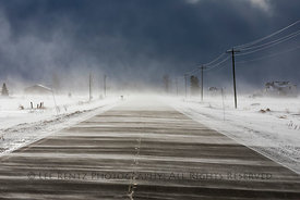 Snow squall in Michigan's Upper Peninsula