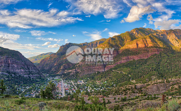 Summer Evening Sun in Ouray