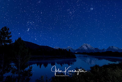 Orion Over Oxbow Bend, Grand Teton National Park, Wyoming
