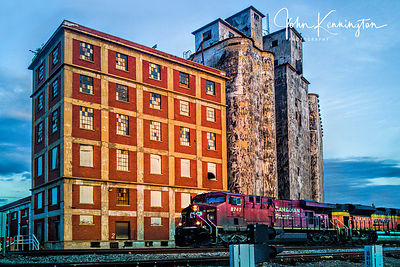 Freight Train and Robin Hood Flour Mill, Ponca City, Oklahoma
