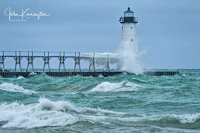Winter at Manistee North Pierhead Lighthouse, Michigan
