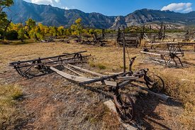 Old Ranch Implements at Ewing-Snell Ranch at Bighorn Canyon