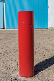 Bollard at Roy's Motel and Cafe along Route 66 in  California