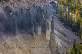 The Pinnacles in Crater Lake National Park in Oregon