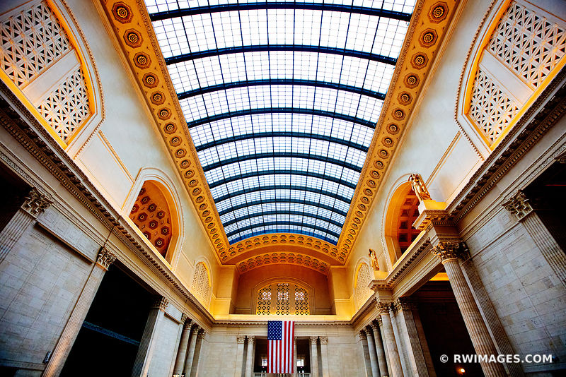 HISTORIC UNION STATION BUILDING INTERIOR CHICAGO ILLINOIS