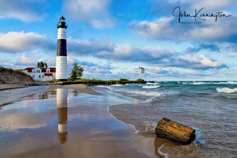 Morning Light at Big Sable Light, Lake Michigan, Luddington, Michigan