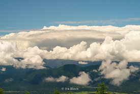 Scenic mountains and clouds as seen near Mt.Fuji, Japan