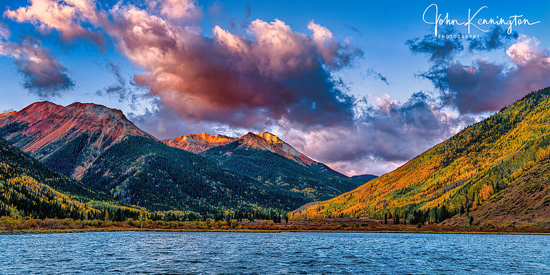 Crystal Lake Sunrise Panoramic, Ouray, Colorado