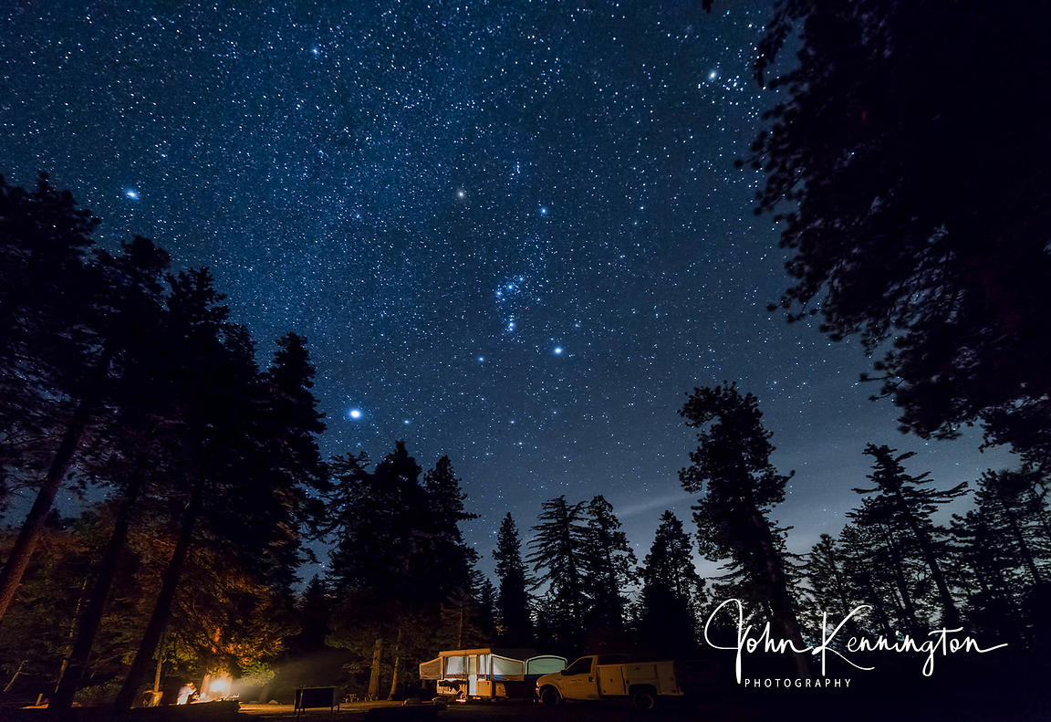 Orion Over Kings Canyon National Park, California