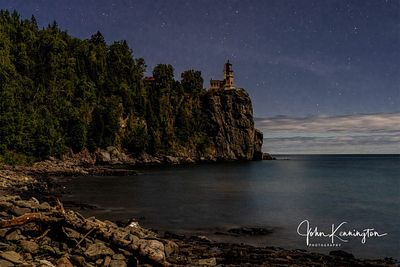 Split Rock Lighthouse By Moonlight, Lake Superior, Two Harbors, Minnesota