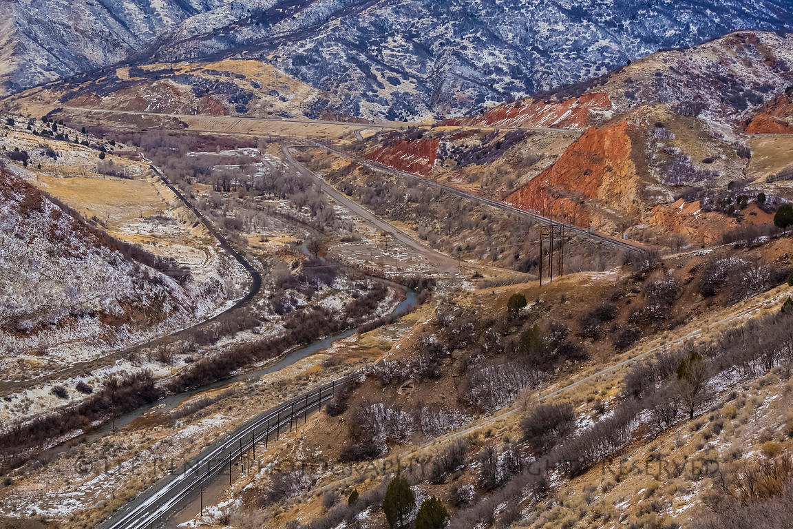 Railroad through the Wasatch Mountains