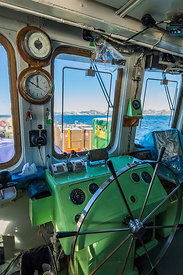 Bridge of Ferry Marine Voyager Plying South Coast of Newfoundland
