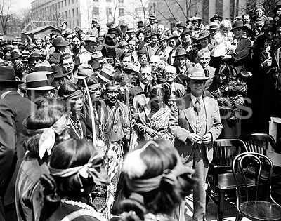 Gathering with Native Americans, Washington, D.C. / Gathering with American Indians in 1930s ca. 1936