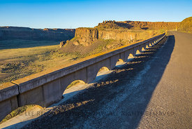 Historic U.S. Route10 Passes through Frenchman Coulee in Washington