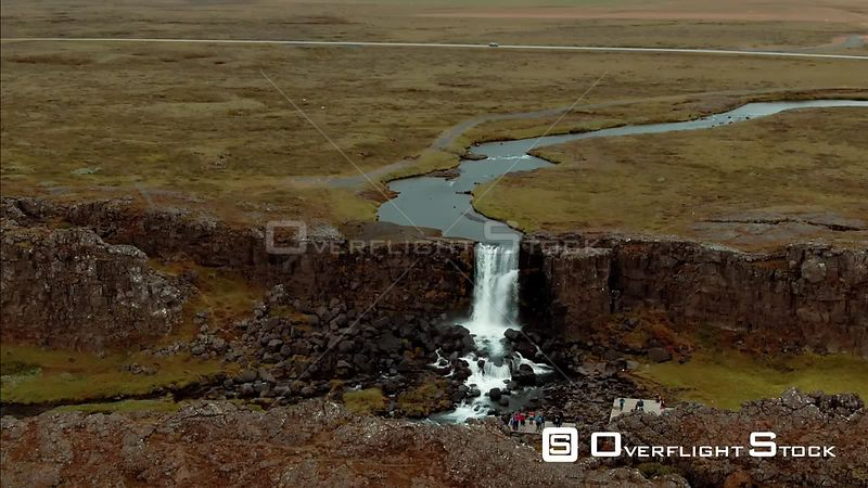 Oxararfoss Waterfall in Iceland