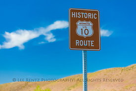 Sign for Historic U.S. Route 10 in Frenchman Coulee, Washington