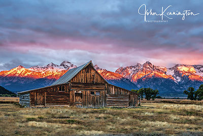 First Light at Moulton Barn, Grand Teton National Park, Wyoming