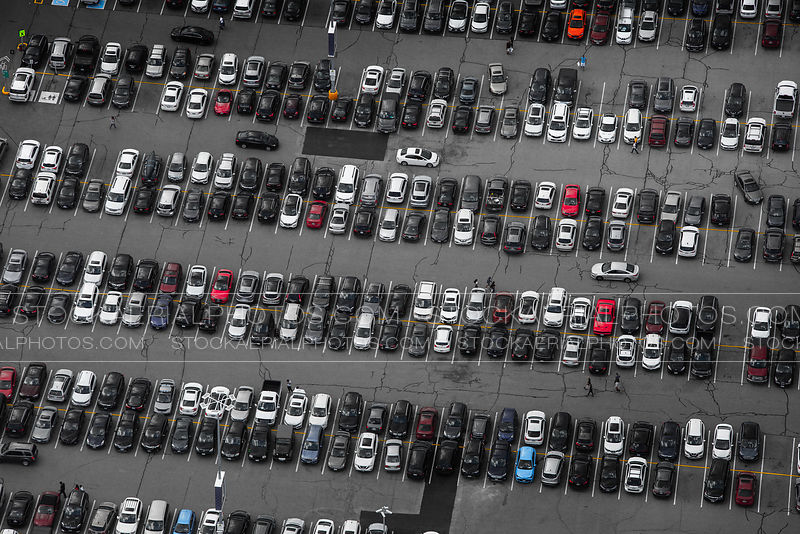 Busy Parking Lot
