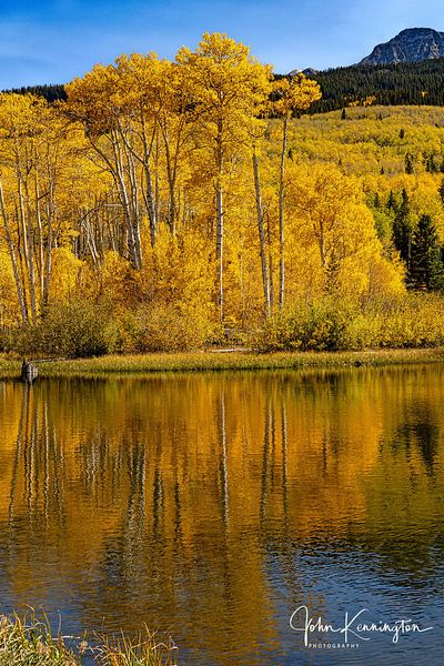 Woods Lake Reflections No 2, Uncompahgre National Forest, Colorado